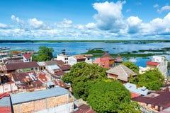 Iquitos e rio fotografia de stock