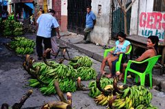 Iquitos - Peru. Bananas - Market of Belen in IQUITOS . Department of Loreto .PERU royalty free stock image