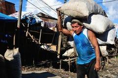 Iquitos - Peru. Charcoal - Port of Belen in IQUITOS . Department of Loreto .PERU stock photos