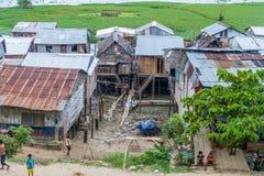 Shantytown in Iquitos, Peru. IQUITOS, PERU - JULY 17, 2015 Shantytown in Iquitos Peru royalty free stock image