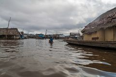 Belen neighborhood of Iquitos royalty free stock photos