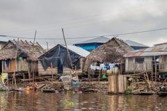Belen neighborhood of Iquitos. IQUITOS, PERU - JULY 18, 2015: View of floating shantytown in Belen neigbohood of Iquitos, Peru royalty free stock photo
