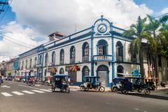 IQUITOS, PERU - JULY 18, 2015: View of an old building in Iquito. S stock photos