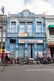 IQUITOS, PERU - JULY 17, 2015: View of an old dilapidated building in Iquito. S royalty free stock photos