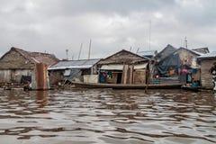 Belen neighborhood of Iquitos. IQUITOS, PERU - JULY 18, 2015: View of partially floating shantytown in Belen neigbohood of Iquitos, Peru royalty free stock image
