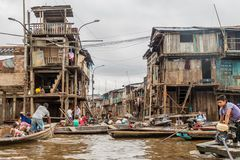 Belen neighborhood of Iquitos royalty free stock image
