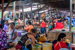 Belen Market in Iquitos stock photo