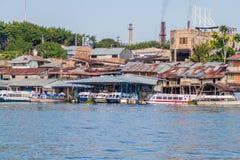 Port in Iquitos, Peru. IQUITOS, PERU - JUNE 17, 2015: View of a port in Iquitos Peru stock photography