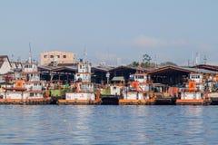 Port in Iquitos, Peru. IQUITOS, PERU - JUNE 17, 2015: View of a port in Iquitos Peru royalty free stock photography