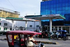Iquitos - Peru. Petrol Station in Belen in IQUITOS. Department of Loreto .PERU royalty free stock photo