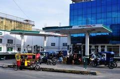Iquitos - Peru. Petrol Station in Belen in IQUITOS. Department of Loreto .PERU stock photos