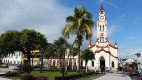 Iquitosvierkant tegen dag Stock Foto