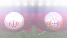 Irán contra Portugal, mundial 2018 de la FIFA Vídeo original 3D