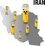 Irán nuclear Ilustración del Vector