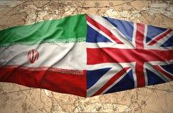 Irán y Reino Unido imágenes de archivo libres de regalías