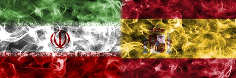 Irã contra a bandeira do fumo da Espanha, grupo B, campeonato do mundo 2018 do futebol do Fifa, Ilustração Royalty Free