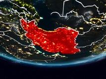 Irã durante a noite ilustração stock
