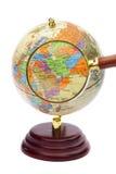 Irã, Iraque e Afeganistão no globo sob um magnifier. fotografia de stock