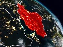 Irã na noite ilustração do vetor