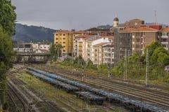 Irún, país Basque, Espanha imagem de stock