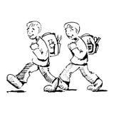 Ir à escola ilustração do vetor