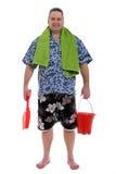 Ir à praia Imagens de Stock