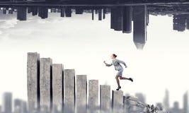 Ir acima ao sucesso Meios mistos Fotografia de Stock