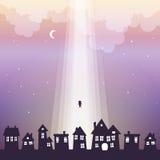 Ir ao céu ilustração do vetor