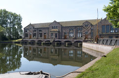 The ir D.F. Wouda pumping station. Royalty Free Stock Photo