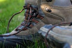 Ir de excursión los zapatos Foto de archivo libre de regalías