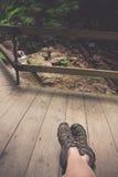Ir de excursión los zapatos Foto de archivo