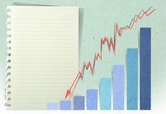 Ir do gráfico da seta Fotos de Stock Royalty Free