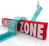 Ir fora sobre a experiência diferente da tentativa da zona de conforto cresce ilustração royalty free