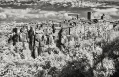 IR image of the small village of Vitorchiano Stock Image
