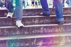 Ir para cima e para baixo as escadas Fotos de Stock Royalty Free