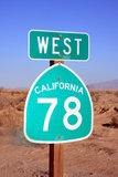 Ir para o oeste Foto de Stock