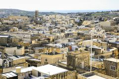 Ir-Rabat view from the ancient Citadel, Gozo royalty free stock images