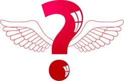 Ir volando-pregunta Imagen de archivo libre de regalías