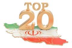 Irańczyka wierzchołka 20 pojęcie, 3D rendering Obraz Royalty Free