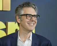 Ira Glass. Public radio personality `This American Life` Ira Glass arrives for the New York premiere of the 9th season of HBO`s hit comedy, `Curb Your royalty free stock photography