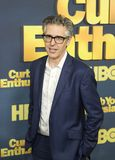 Ira Glass. Reflective, insightful radio personality `This American Life` Ira Glass arrives for the New York City premiere of HBO`s `Curb Your Enthusiasm,` 9th stock images