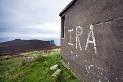 IRA graffiti on Horn Head, Ireland Royalty Free Stock Images