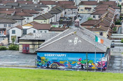 IRA wall painting in Derry, Ireland Stock Photos