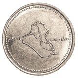 100 Iraaks dinarsmuntstuk Royalty-vrije Stock Foto's