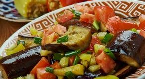 Iraaks Fried Aubergine Molasses Salad royalty-vrije stock fotografie