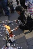 IRAANS PROTEST TEGEN OVERHEID Royalty-vrije Stock Foto
