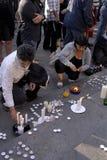 IRAANS PROTEST TEGEN OVERHEID Stock Fotografie