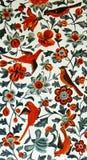 Iraanse Muurschilderingschilderijen van Vogels en Bloemen Stock Fotografie