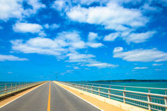 Irabu bridge Miyako Island in Okinawa. Blue sky Stock Image