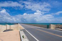 Irabu Bridge in Miyako Island Royalty Free Stock Image